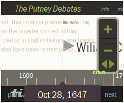 Putney timeline side bar